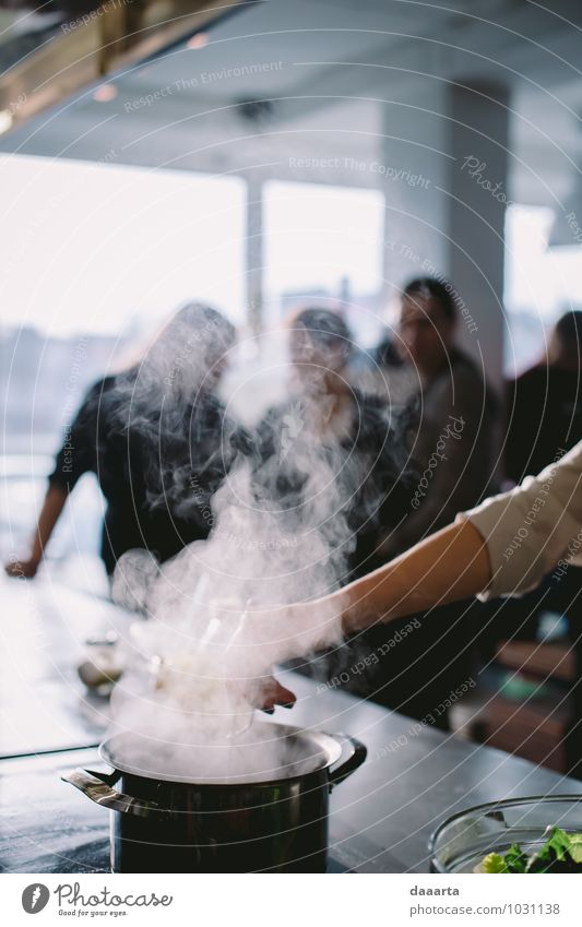 kitchen smoke Cooking Preparation Smoke Steam Crockery Pot Lifestyle Elegant Joy Harmonious Leisure and hobbies Adventure Freedom Winter Living or residing