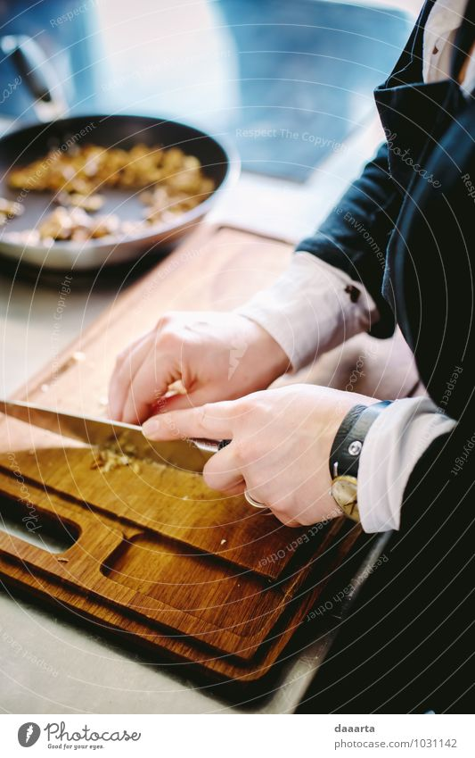 Crushing wallnuts Food Herbs and spices Nut Walnut Plate Knives cutting board Chopping board Lifestyle Elegant Style Joy Harmonious Senses Relaxation