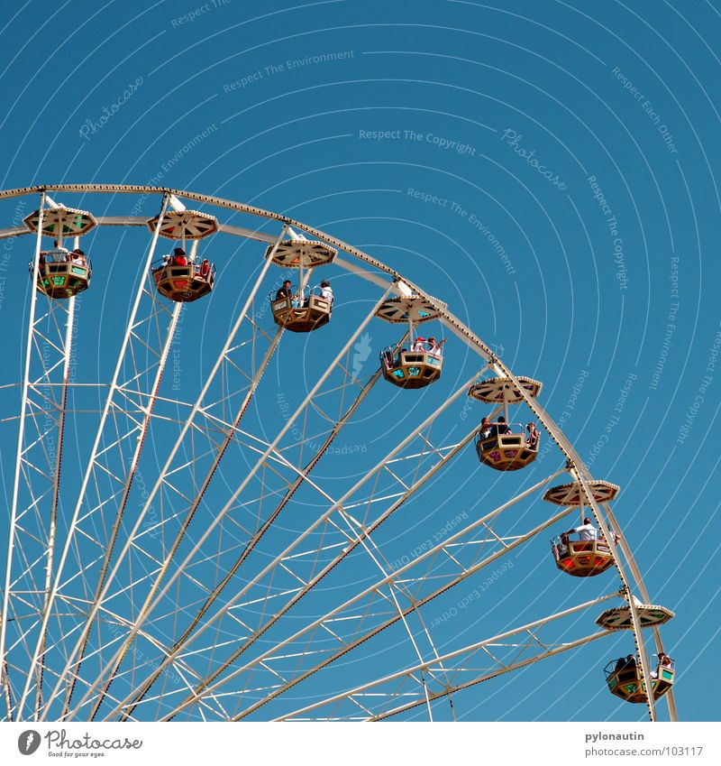 Ferris wheel 2 Fairs & Carnivals Rotate Playing Sky Flying Kitsch Joy D 80 Seating Vantage point