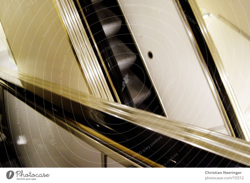 escalators*intersection Escalator Stairs Road junction Shopping center Technology Movement Downward Upward
