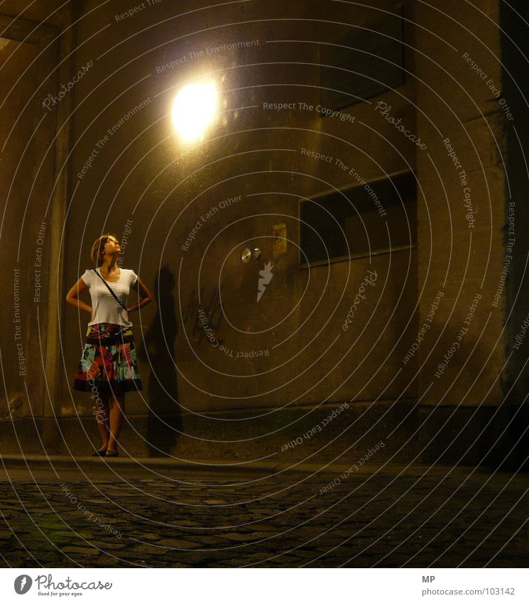 Woman Street Lamp Lady Tunnel Illuminate Night Passage Sleepwalk Mood lighting