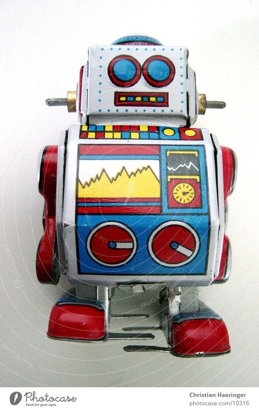 * r1 Toys Multicoloured Robot Technology Playing Retro Advertising Analog Digital Photographic technology