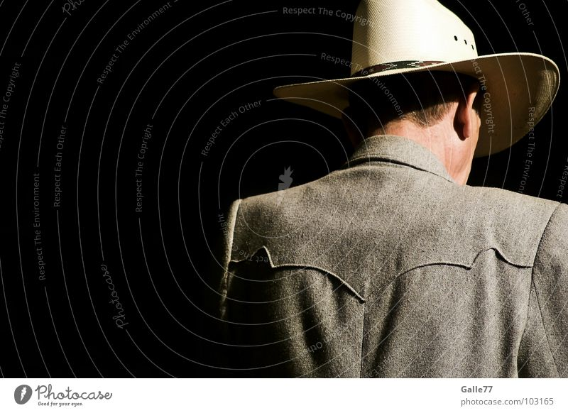 Lonely Stranger Man Cowboy Loneliness Foreign Individual Solitary Human being Hat