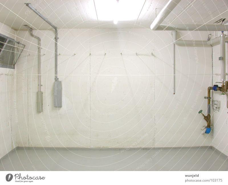 White Room Architecture Concrete Laundry Household Cellar Clothesline Washhouse