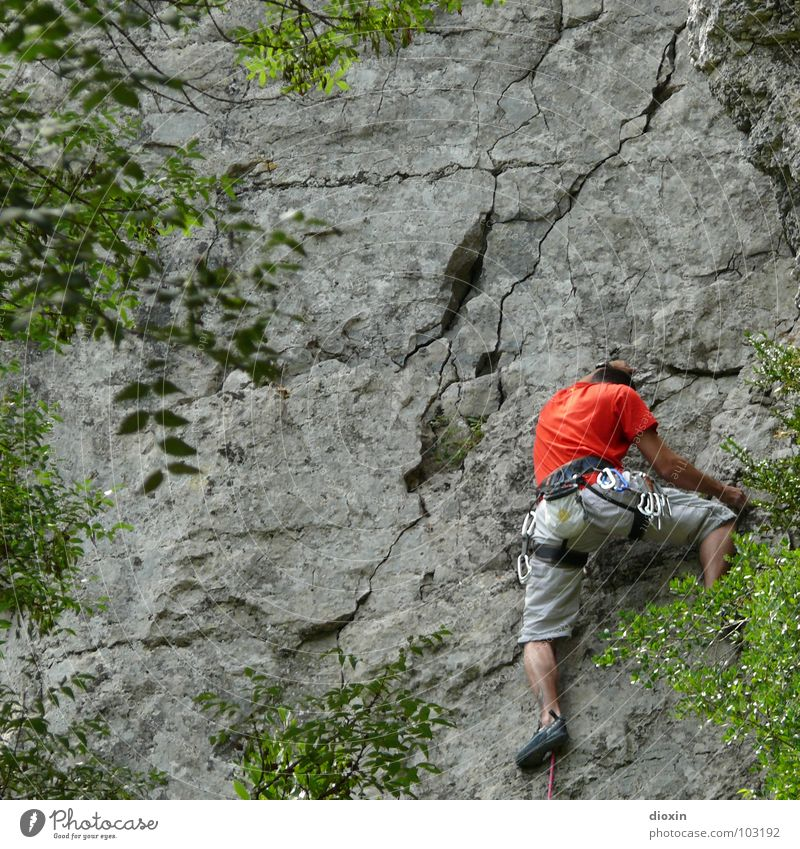 Nice Climb! Colour photo Multicoloured Exterior shot Copy Space left Copy Space top Day Full-length Downward Life Leisure and hobbies Vacation & Travel