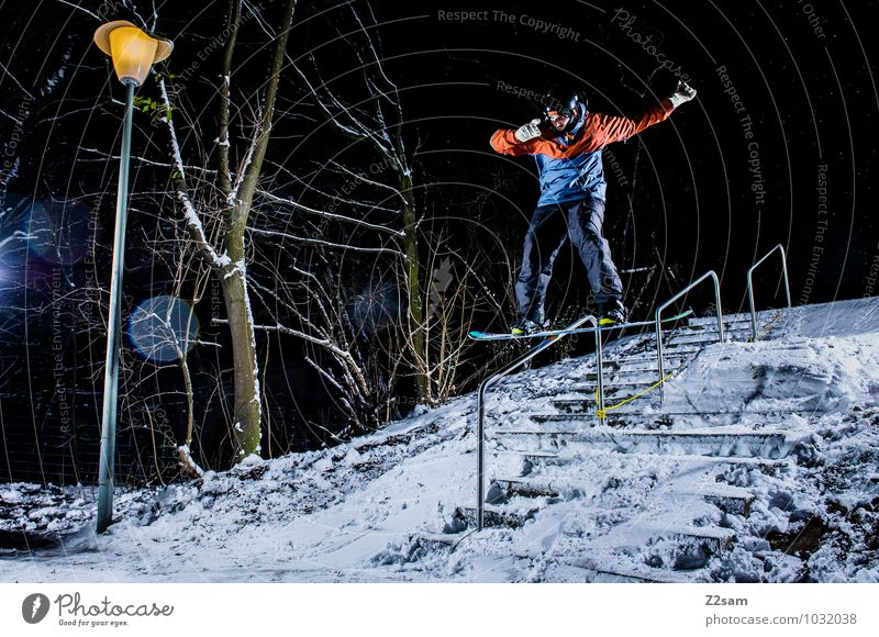 Nature Youth (Young adults) City Young man Landscape Winter Style Lifestyle Jump Masculine Leisure and hobbies Power Cool (slang) Driving Posture