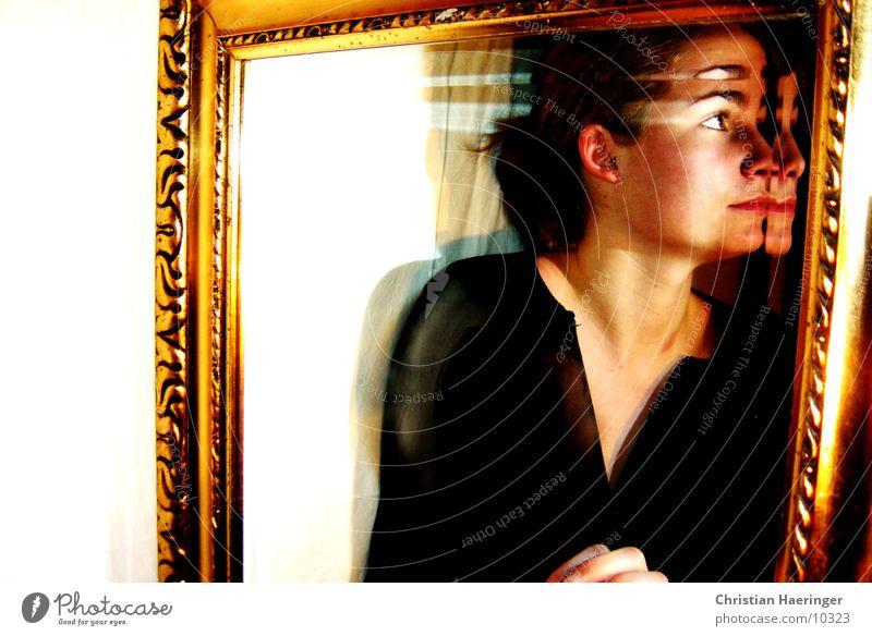 mirroring Mirror Woman Gold Frame