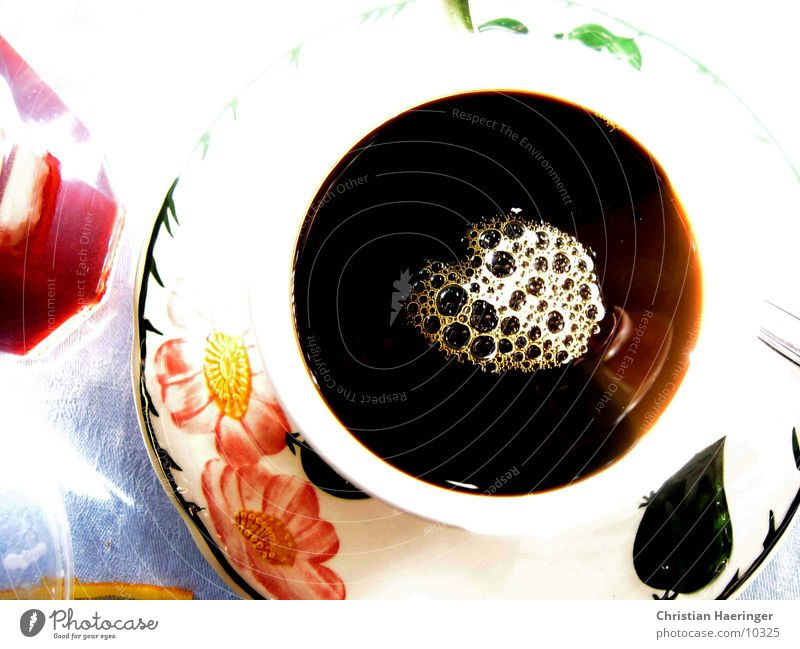 Flower Black Coffee Café Cup Alcoholic drinks