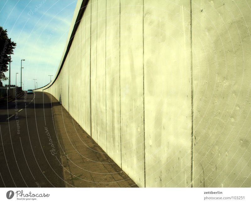 motorway exit Concrete Wall (building) Concrete wall Column Structures and shapes Traffic lane Highway Expressway exit Empty Energy crisis