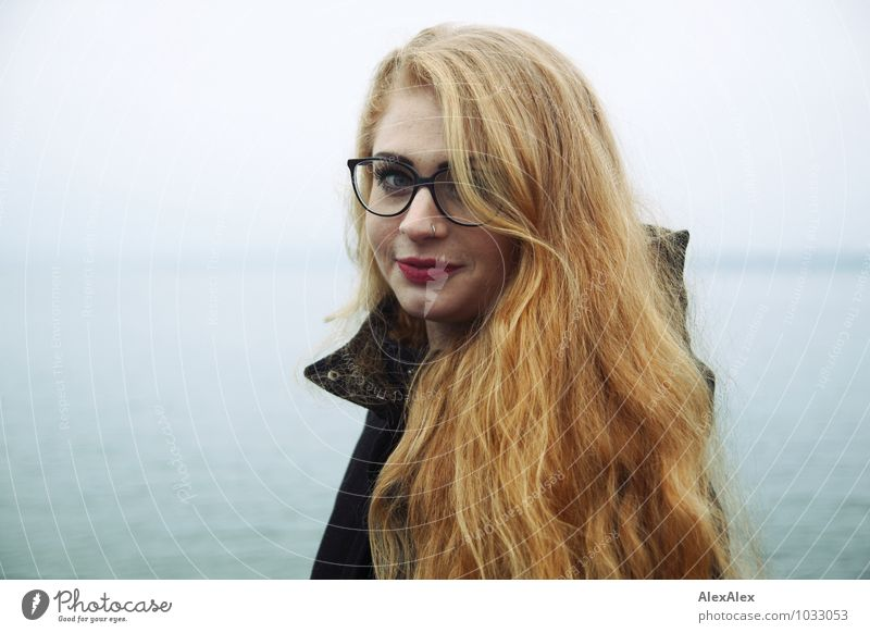 Youth (Young adults) Beautiful Water Young woman Landscape 18 - 30 years Far-off places Environment Adults Coast Happy Hair and hairstyles Freedom Head Horizon