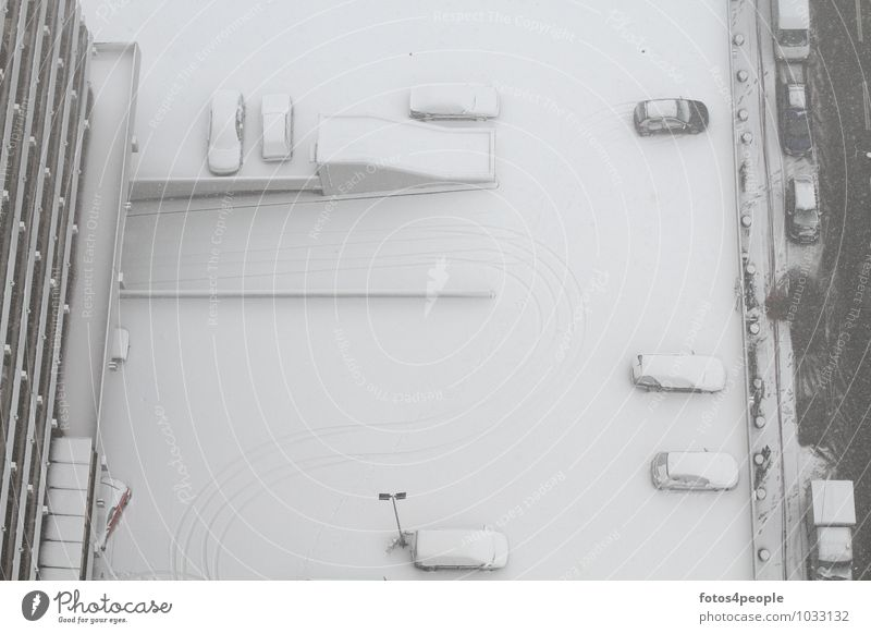 snow à la carte Winter Snow High-rise Balcony Street Car Tall Cold Town White Calm Perspective Stagnating Parking lot lighting Highway ramp (exit)