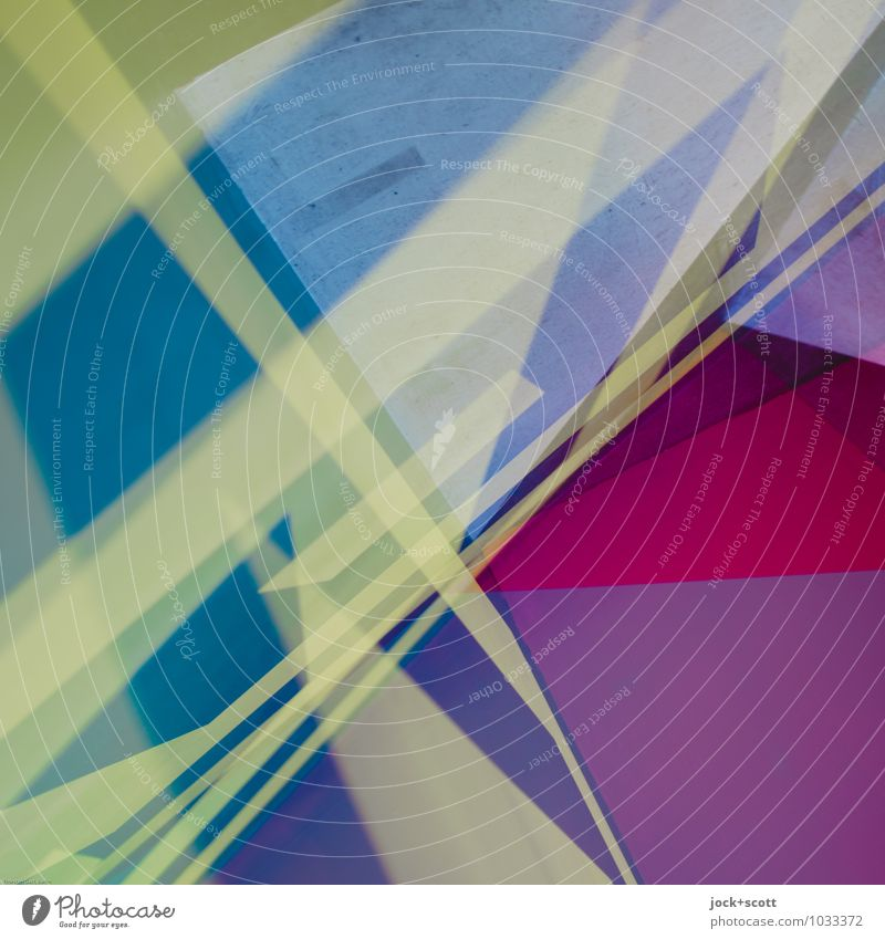 mixture Far-off places Style Background picture Line Design Decoration Modern Perspective Stripe Uniqueness Illustration Network Deep Hip & trendy Chaos