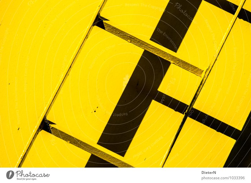 black / yellow Architecture Stairs Yellow Black Ladder Diagonal Tilt Graphic Colour photo Multicoloured Exterior shot Detail Deserted Copy Space right
