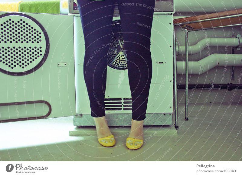 Woman Legs Feet Footwear Washing Laundry Seventies Washer The fifties Washing day