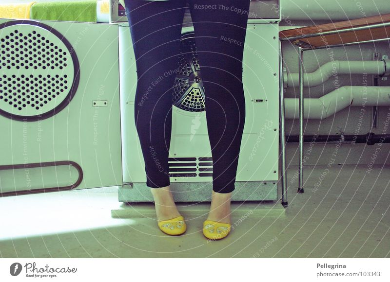 Woman Legs Feet Footwear Washing Laundry Seventies Washer The fifties Washing day