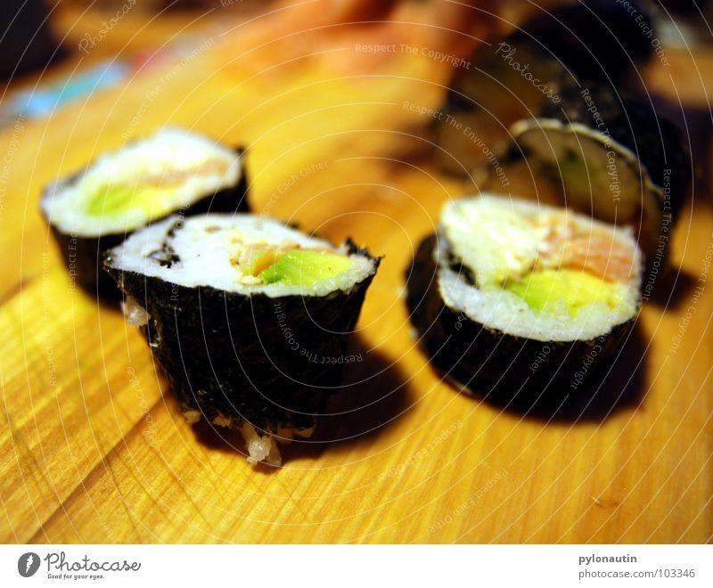 Suuuushi Sushi Algae Japan Chopping board Kitchen Lemur Wasabi Salmon Shrimp Shrimps Meal Vegetable Rice Nutrition Fish