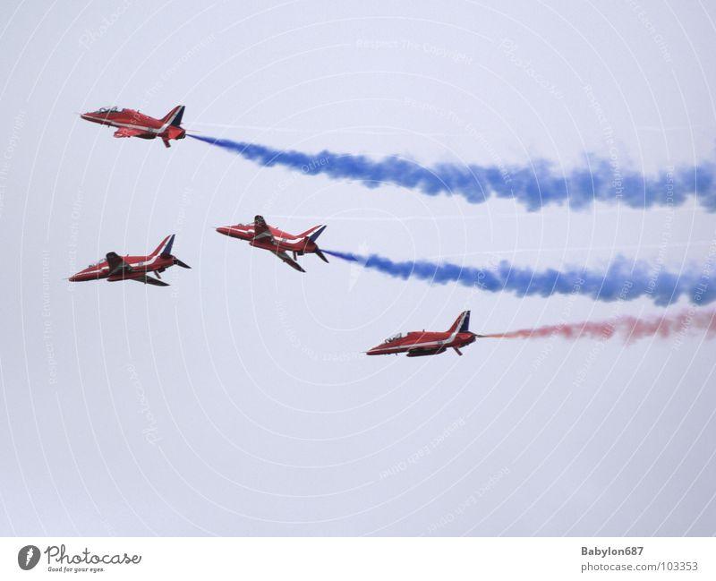 Colour flight No.1 Airplane Aerobatics England Shows Sky Aviation flying squadron