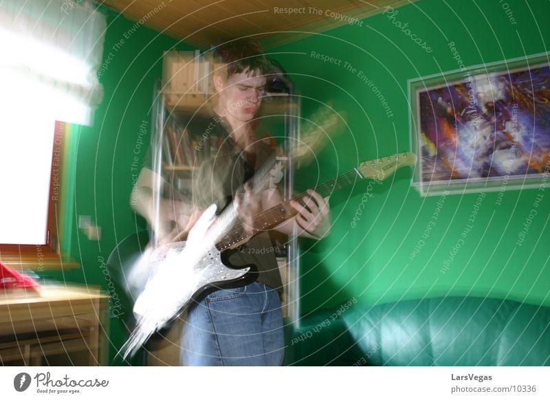 El Mariachi Man Electric guitar blurred Movement Music Guitar Rock music