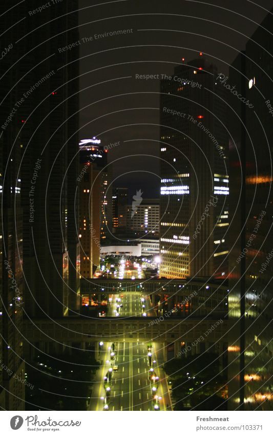City Street Large High-rise Tall Night Japan Tokyo
