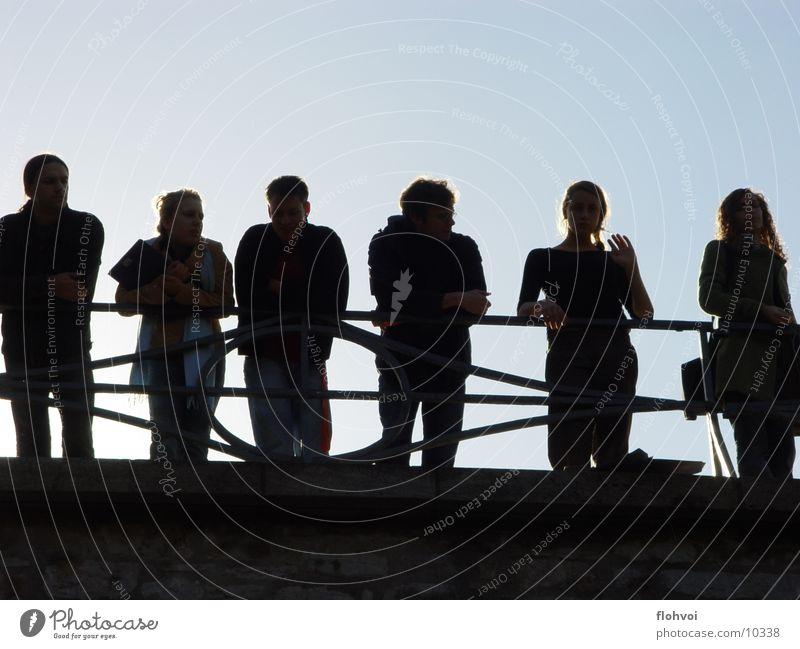 black design Weimar Silhouette Group Bridge star bridge freshmen Shadow Profile