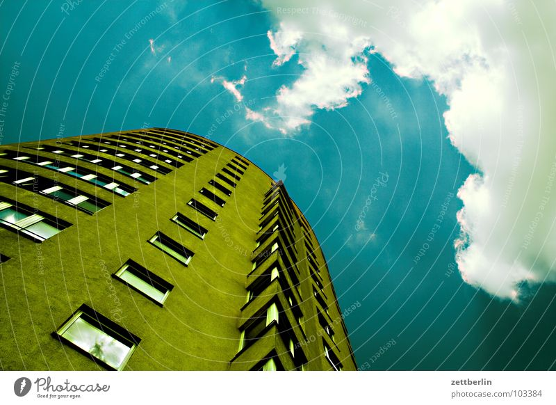 Sky Summer House (Residential Structure) Clouds Berlin Window High-rise Desire Tenant Fantasy literature Landlord Worm's-eye view New building New settlement