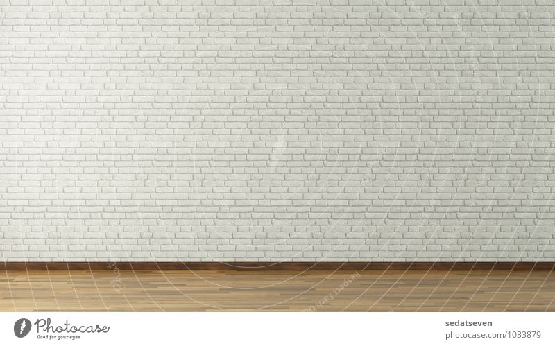 3D rendering white brick wall Design Building Architecture Stone Concrete Old Dirty Brown Gray White White Room parquet Consistency wood background block