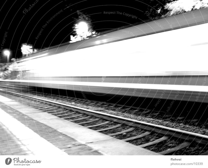 Step by step 2 Railroad Night Long exposure Vacation & Travel Railroad tracks db Station short encounter on the double