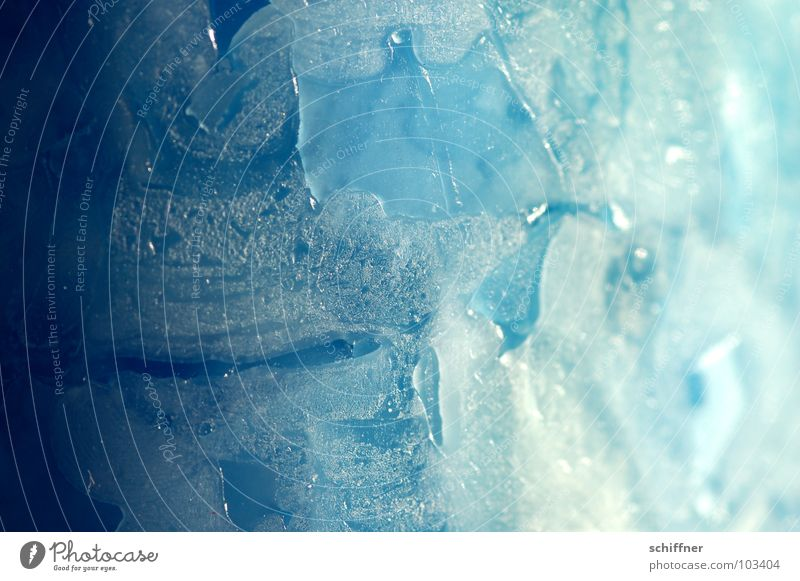 Light and shadow Candle Wax Background picture Progress Abstract Structures and shapes Blue Ice Macro (Extreme close-up) Shadow