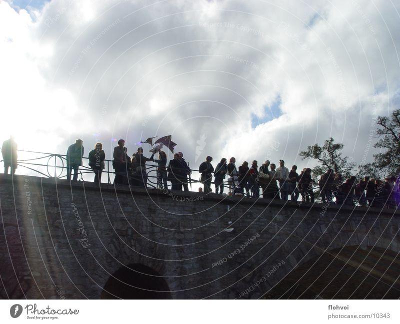 flying boxes Weimar Clouds Silhouette Group Bridge star bridge freshmen flying boats Sun Shadow Profile