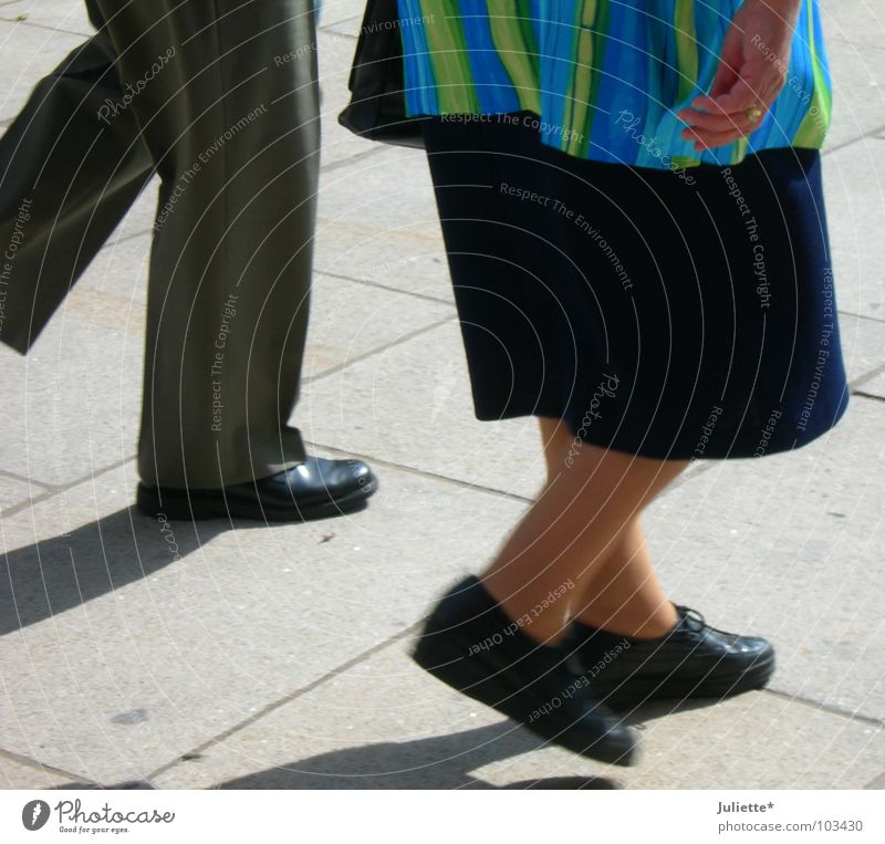 old walking Together Going Footwear Pants Multicoloured Hand Clothing Traffic infrastructure Old mesh Street Cobblestones Markets