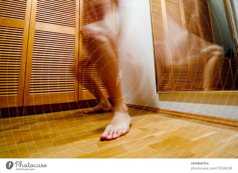 sidestep Movement Motion blur Ghosts & Spectres  Man Human being Feet Disk Slat blinds Cupboard Blur Living or residing Flat (apartment) Agitated Haste