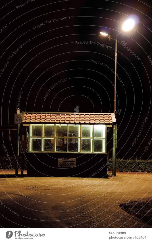 Black Loneliness Street Lamp Dark Meadow Window Lanes & trails Brown Wait Roof Village Brick Boredom Bus Street lighting
