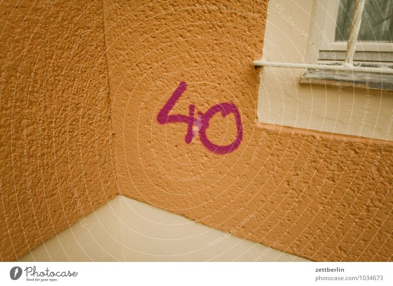 40 Berlin Smeared Corner Facade Autumn Digits and numbers round birthday Write Characters Town City life Vandalism Suburb Winter Jubilee Invitation