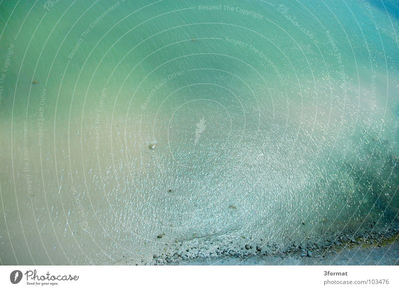 of_bird_view Ocean Surface Surface of water Lake Coast Cliff Beach Fog Waves Air Aerial photograph Bird's-eye view Downward Sudden fall Crash Rügen Cap Arcona
