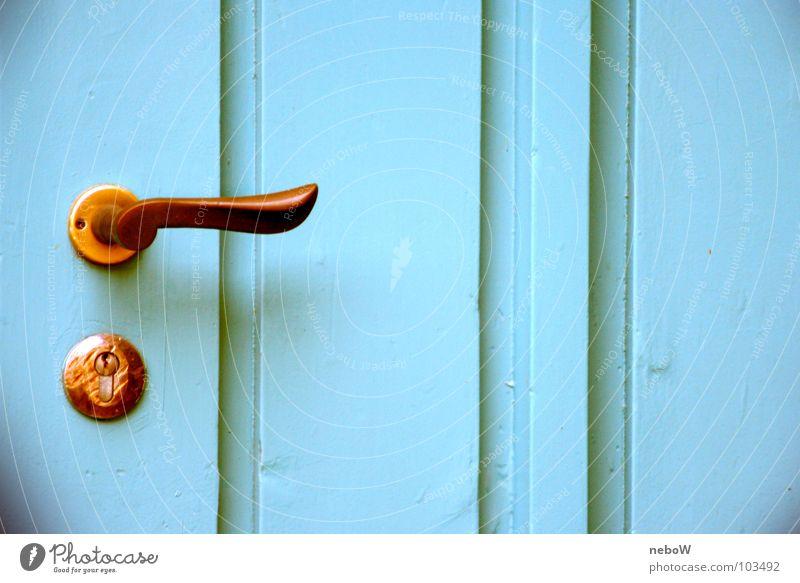 Old Blue Colour Wood Door Living or residing Key Massive Painted Keyhole Door opener