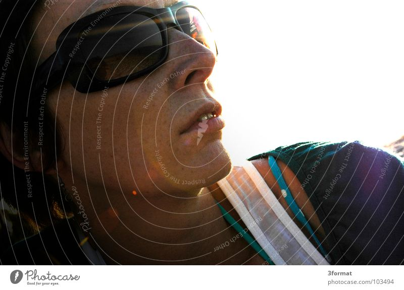 Woman Sun Ocean Summer Beach Face Vacation & Travel Calm Emotions Freedom Dream Lake Think Warmth Coast Skin