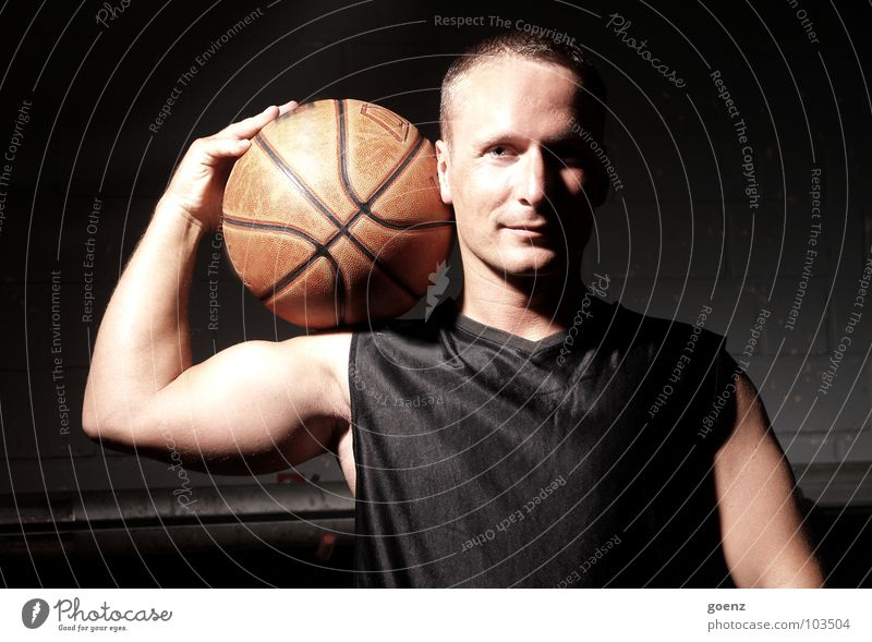 Man Dark Sports Playing Posture Ball Athletic Warehouse Basketball Jersey Gymnasium Basketball player