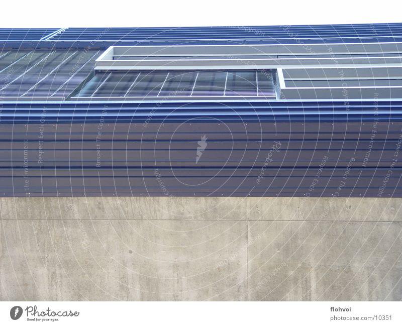 Blue Window Gray Metal Architecture Concrete Luxury Entrance Interesting