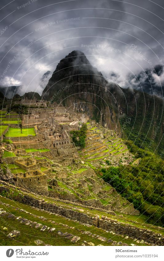 Clouds over Machu Picchu Vacation & Travel Tourism Adventure Far-off places Mountain Environment Landscape Climate Bad weather Fog Plant Field Virgin forest
