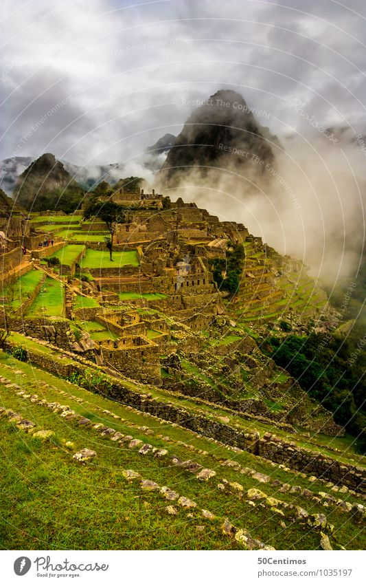 Clouds over Machu Picchu Vacation & Travel Tourism Trip Adventure Far-off places Freedom City trip Mountain Environment Nature Landscape Climate Bad weather