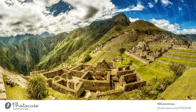 A 180° Panorama of Machu Picchu Vacation & Travel Tourism Trip Adventure Far-off places Freedom Sightseeing City trip Expedition Summer Mountain Environment