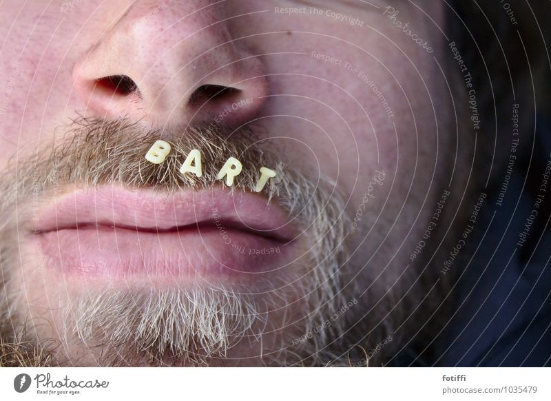 beard Masculine Lips Facial hair 1 Human being 13 - 18 years Youth (Young adults) Blonde Beard Friendliness Contentment Joie de vivre (Vitality)