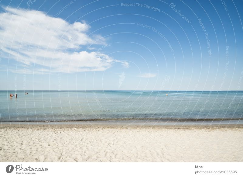 location issue Vacation & Travel Summer Beach Human being Life Group Environment Nature Landscape Sand Water Sky Beautiful weather Warmth Coast Baltic Sea Ocean