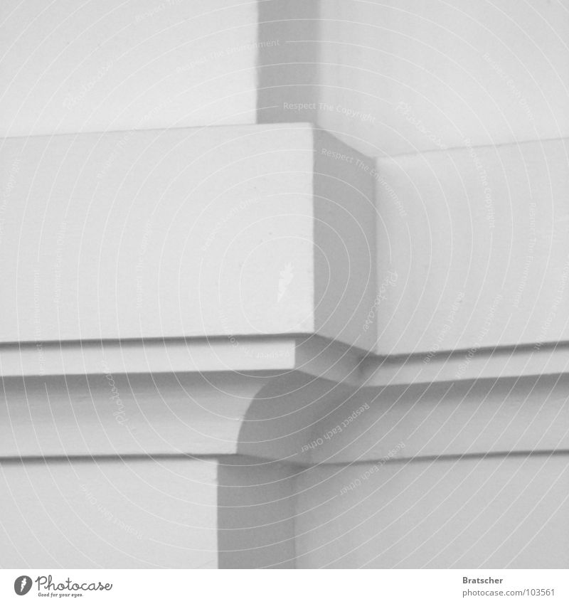 White Architecture Gray Line Background picture Corner Copy Space Construction Section of image Geometry Symmetry Ornament Minimalistic Composing