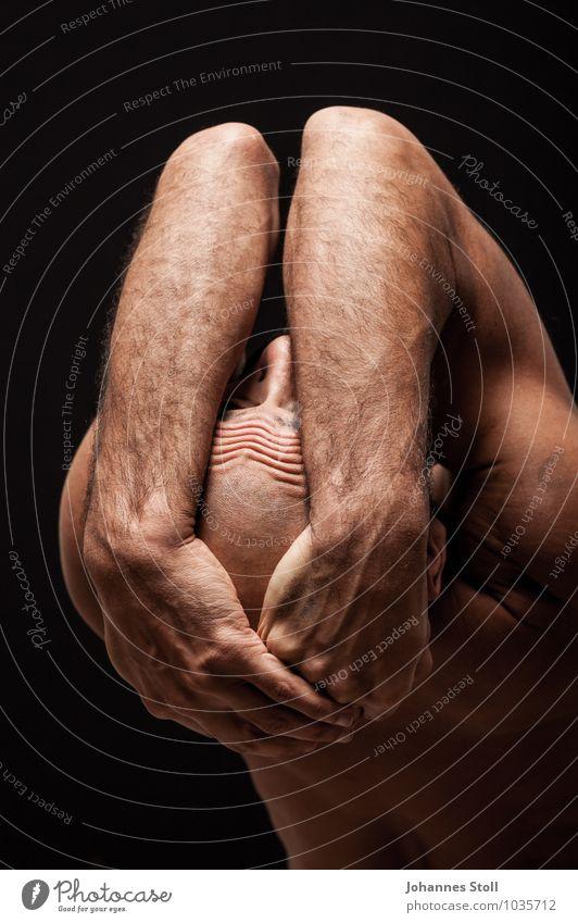Dancer pleats II Beautiful Body Skin Senses Relaxation Meditation Masculine Back 1 Human being 30 - 45 years Adults Art Actor Ballet Skinhead
