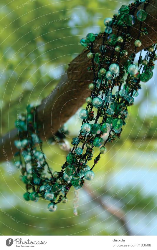 it greenens so greenly Tree Green Playing Necklet Pearl Art Arts and crafts  Nature Chain Branch