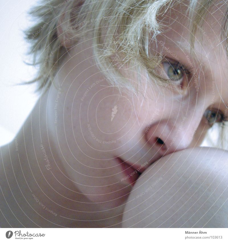 Woman Face Loneliness Dream Head Sadness Think Sit Grief Future Longing Distress Idea Barrier Feeble Knee