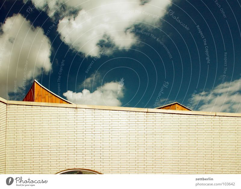 Sky Summer Clouds Berlin Wall (building) Architecture Facade Modern Culture Point Concert Swing Berlin Philharmonic Berlin culture forum