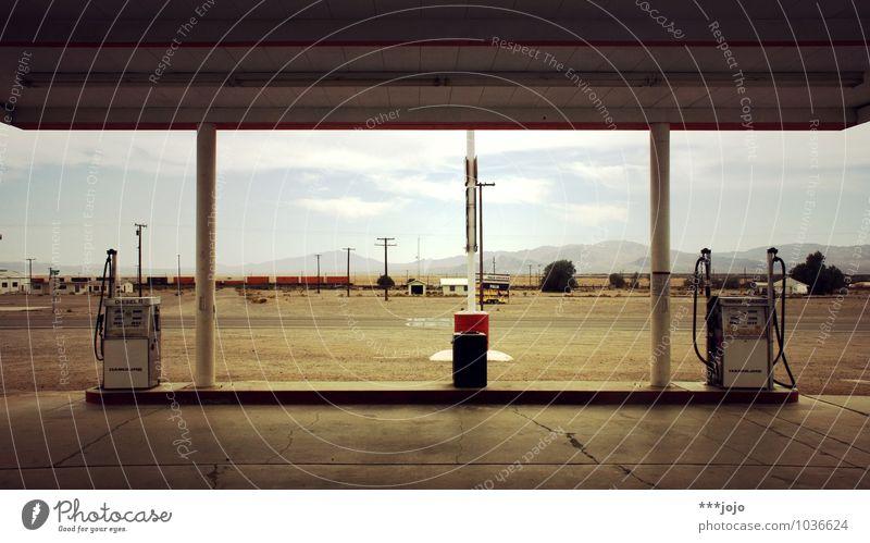 gasoline. Manmade structures Transport Motoring Street Energy Petrol station Refuel Petrol pump Diesel Gasoline USA California Mid-West Desert Badlands Route 66