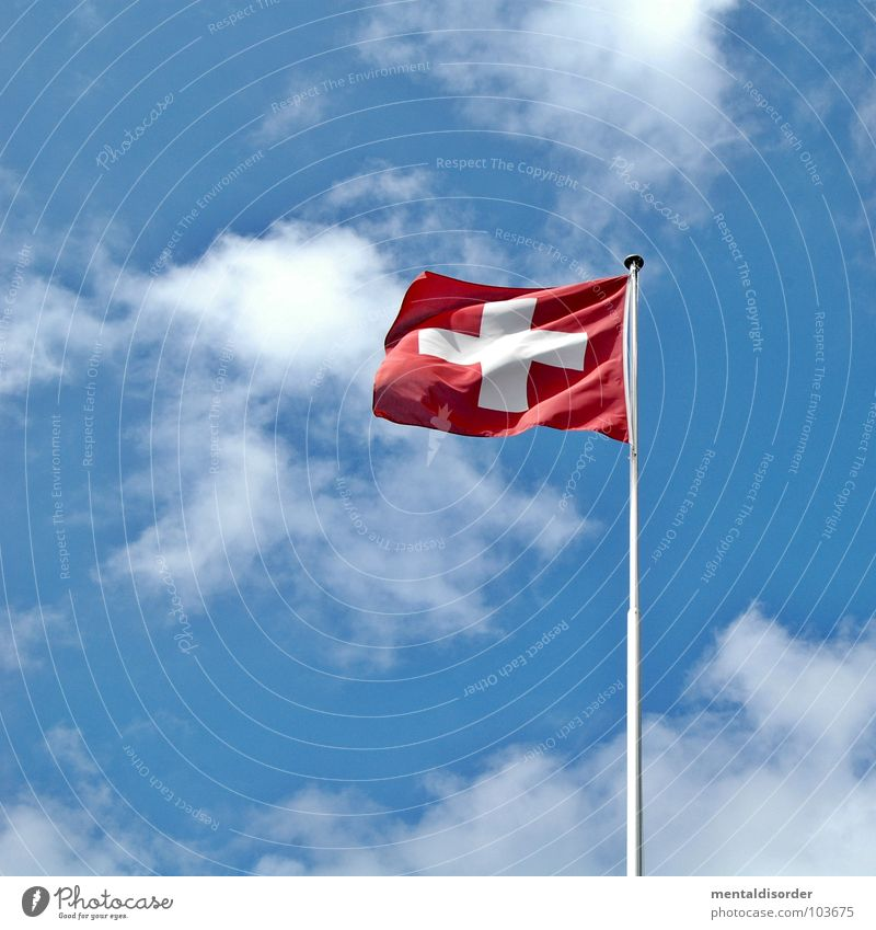 Sky White Blue Red Vacation & Travel Mountain Germany Hiking Wind Signs and labeling Free Back Flag Vantage point Switzerland Italy